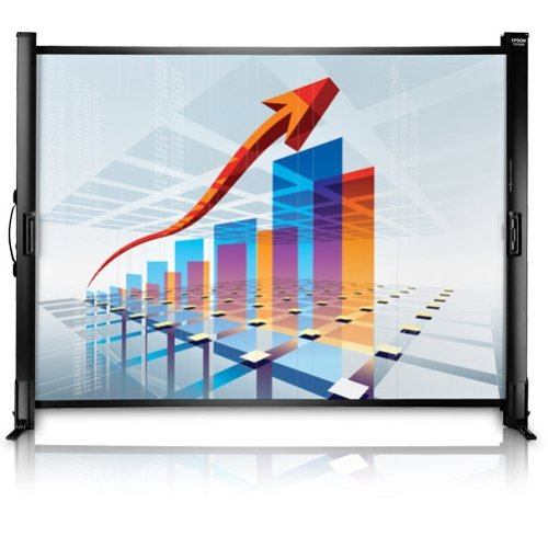 """Epson Es1000 Manual Projection Screen . 50″ . 4:3, 16:9 . Portable . 34.5″ X 45.4″ . Matte White """"Product Type: Accessories/Projection Screens"""""""