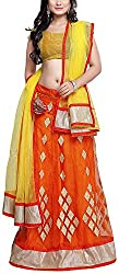 Hatdi Sales Women's Georgette Lehenga Choli (Orange)