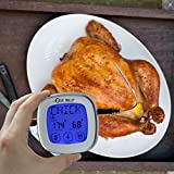 Blue Skillet Instant Read Cooking Meat Thermometer and Timer