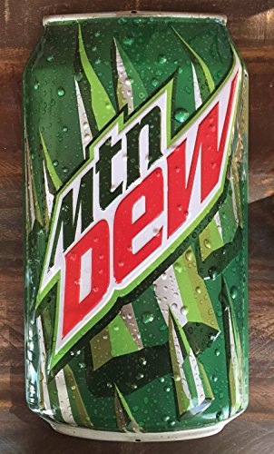 Mountain Dew Die Cut Can Ande Rooney Tin Sign (Mountain Dew Can compare prices)