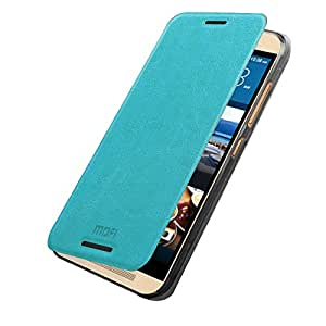 FEYE® Fashionable Mofi New Slim Leather Flip Case Cover Skin For HTC One M9 - Blue