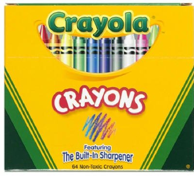 Crayola Brand #52-0064 64CT Crayon/Sharpener (Pack of 3)
