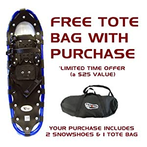 Buy 27 Inch Mens Bigfoot Snowshoes with Tote Bag - Blue by Bigfoot