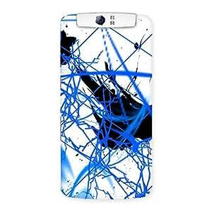 Enticing Blue Splasher Print Back Case Cover for Oppo N1