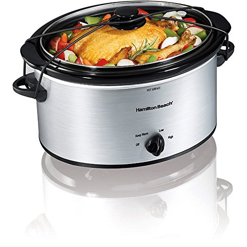 Hamilton Beach 5 Quart Portable Oval Slow Cooker (Silver) (Replacement Lunch Crock compare prices)