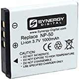 Fujifilm X10 Digital Camera Battery Replacement battery for the Fujifilm NP50, Lithium-Ion (Li-ion) 3.7V (1000mAh) - This Synergy Digital battery is fully compatible with the original Fujifilm NP50 Battery.