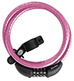Master Lock 8161DPNK Breast Cancer Research Foundation Combination Cable Bike Lock, 6 Feet x 3/8 Inch,  Pink