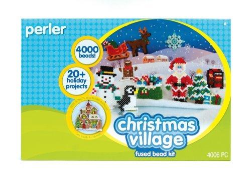 Fused Beads By Perler - Perler Beads Fused Bead Kit - Christmas Village