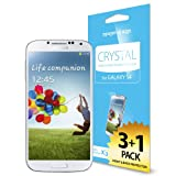 Spigen® Samsung Galaxy S4 Screen Protector Clear [Crystal Clear] [4-PACK] **Value Pack** Premium Front Screen Protector + Back Protector for Galaxy S IV Galaxy SIV i9500 - Crystal CR (SGP10351)