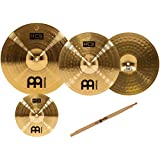Meinl Cymbals HCS1314+10S HCS Pack Cymbal Box Set with 13-Inch Hi Hats, 14-Inch Crash, Plus FREE 10-Inch Splash Cymbal, and FREE Sticks