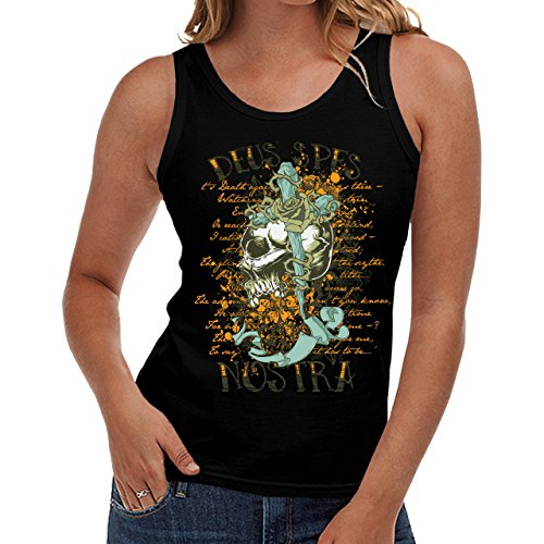 Wellcoda | Cursed Monster Skeleton Devil Womens NEW Tank Top Black S-2XL