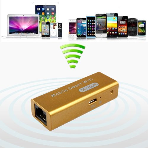 Bestpriceam New Mini USB Portable 3g/4g Wireless Wifi Ieee 802.11b/g/n 150mbps Ap Router Blue (Gold)