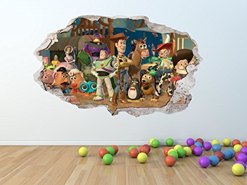toy-story-gebrochen-zertrummert-wand-effekt-wandkunst-aufkleber-riesiges-grossen-pw127-gigant-100-x-