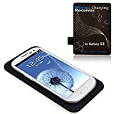 Wireless Charger, Tonsee Qi Wireless Charger Charging Pad + Receiver Kit for Samsung Galaxy S3 III i9300 (Color: black, Tamaño: Samsung Galaxy S3 III i9300)
