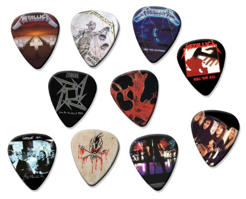 Metallica Classic Recordings Set Of 10 Loose Chitarra Pick Plettro Plettris Plettro Plettri
