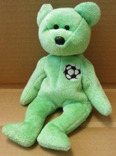 TY Beanie Babies Kicks the Soccer Bear Plush Toy Stuffed Animal