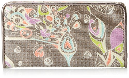 Sakroots Artist Circle Slim Wallet, Slate Songbird Sequins, One Size