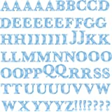 Roommates Blue Alphabet Wall Decals, Multi Color