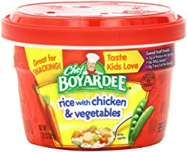 Chef Boyardee Rice with Chicken amp Vegetables 725-Ounce Microwavable Bowls Pack of 12