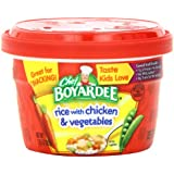 Chef Boyardee Rice with Chicken & Vegetables, 7.25-Ounce Microwavable Bowls (Pack of 12)