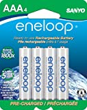 eneloop AAA 1800 cycle, Ni-MH Pre-Charged Rechargeable Batteries, 4 Pack