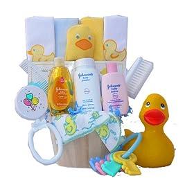 Baby's Store| Rub A Dub Dub… It's Time For A Tub! Baby Gift Basket