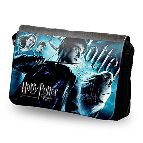 Harry Potter - Borsa tracolla con collage di Harry Potter - Versione Tedesca