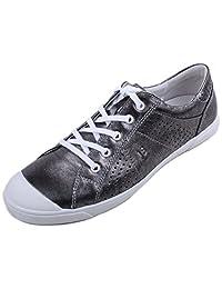 Josef Seibel Lilo 13 Womens Antik Metallic Leather Low Top Fashion Sneakers size EU 41