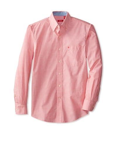 IZOD Men's Long Sleeve Essential Solid Woven Shirt