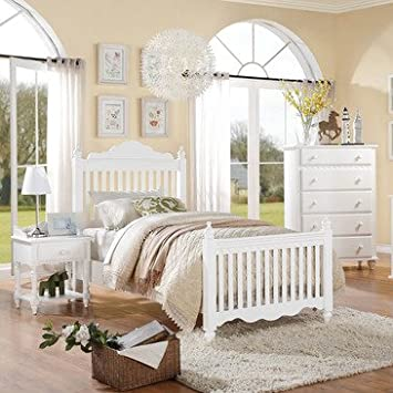 Homelegance Emmaline 3 Piece Kids Slat Bedroom Set in White
