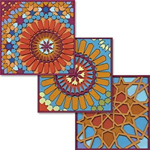 Images d'Orient Coasters, Moucharabieh Designs, Set of 6 Assorted