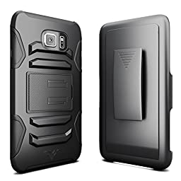 Galaxy Note 5 Case, CellBee® [Rigid Armor] Dual Layer Heavy Duty Holster (Built-in Credit Card Slot Clip) Case with Kickstand and Locking Belt Swivel Clip