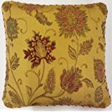 "SUPERB GOLD RED TAPESTRY CHENILLE 18"" THICK HEAVYWEIGHT CUSHION COVER"