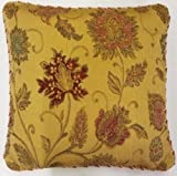 """SUPERB GOLD RED TAPESTRY CHENILLE 18"""" THICK HEAVYWEIGHT CUSHION COVER"""