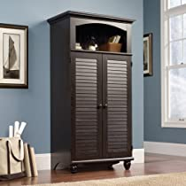 Big Sale Best Cheap Deals Sauder Harbor View Computer Armoire in Antiqued Paint