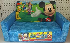 Disney Mickey Mouse Clubhouse Flip Open Sofa With Slumber Attachment by Dinsey