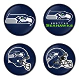 "Seattle Seahawks NFL Round Badge 1.75"" Badge Bottle Opener Keychain at Amazon.com"