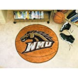 Western Michigan Broncos NCAA &quot;Basketball&quot; Round Floor Mat (29&quot;)