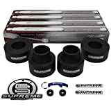"Supreme Suspensions - Grand Cherokee Lift Kit Full Suspension Lift 2.5"" Front Suspension Lift + 2.5"" Rear Suspension Lift + Pro Performance Series Shocks CNC Machined Delrin (Black) Easy Install Jeep Grand Cherokee WJ Lift Kit PRO"