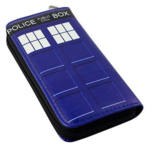 Doctor Who Tardis Police Box PU Long Zip Wallet Purse Coin Bag