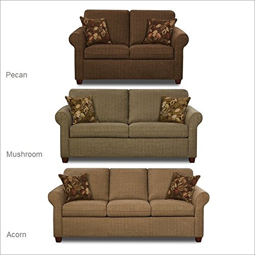 Simmons Upholstery 1630-02 Cullen Acorn Loveseat front-291111