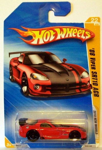 Hot Wheels 2010-22 New Models Red '08 Viper SRT10 ACR 1:64 Scale - 1