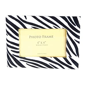 Zebra Picture Frame Black and White Felt Photo Frame