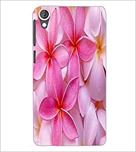 PrintDhaba Flower D-2446 Back Case Cover for HTC DESIRE 820 (Multi-Coloured)