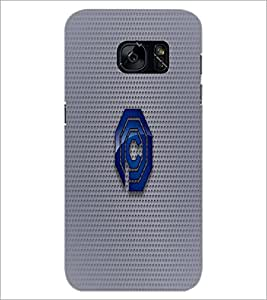 PrintDhaba C Font D-1586 Back Case Cover for SAMSUNG GALAXY S7 (Multi-Coloured)
