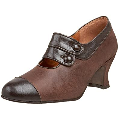 Re-Mix Vintage Women's Savoy Mary-Jane Pump,Antique Brown Combo,7.5 M US