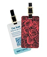 GoCodes Smart QR Bar Code Luggage Tag - Romantic Roses One Size