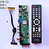 Xennos Z.VST.3463.A1 V56 V59 general DS.D3663LUA.A8-1-A LCD Driver Board Support DVB-T2 TV Board+IR+LVDS+remate control - (Plug Type: T2)