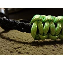 Neon Green And Black Paracord Bow Wrist Sling Bostonred2010