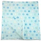 30×30 Inch Plush Fleece Baby Blanket – Assorted Colors Polka Dot Blankets by bogo Brands (Blue)